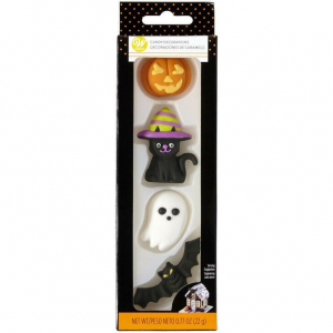 Pumpa Katt Spöke Sockerdekorationer, Halloween- Wilton