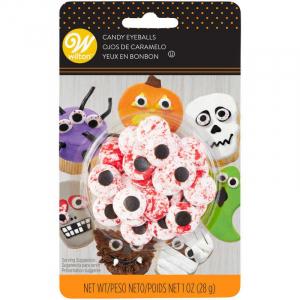 Sockerdekoration Ögon, Halloween - Wilton